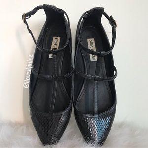 •Steve Madden• Patent Caged Ballet Flats US8.5